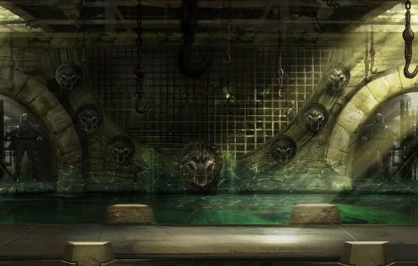 Картинка acid, water, scenery, mortal kombat, bars, hanging dead
