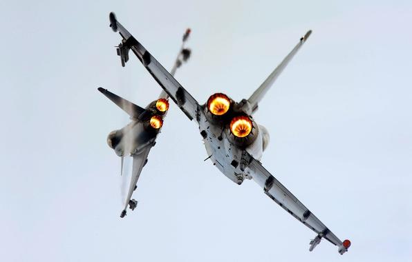 Картинка Франция, Самолет, Полет, Истребитель, 2000, Авиация, ВВС, Mirage, Мираж, Одноместный, Два, В Воздухе, 2000H