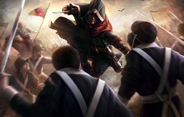 Картинка война, солдаты, ассасин, Assassin's Creed