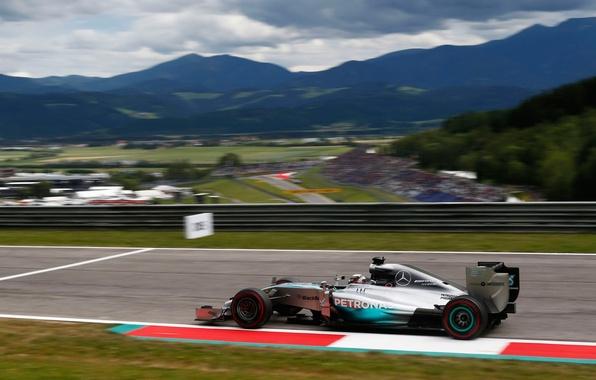 Картинка гонка, спорт, формула 1, болид, мерседес, lewis hamilton, Mercedes AMG Petronas F1, Austrian GP