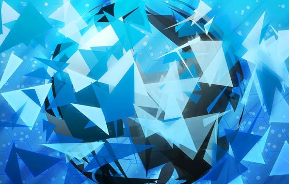 Картинка свет, линии, цвет, фигура, объем, треугольник, слой