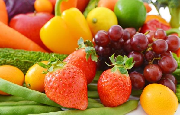 Картинка ягоды, клубника, фрукты, овощи, fresh, fruits, berries