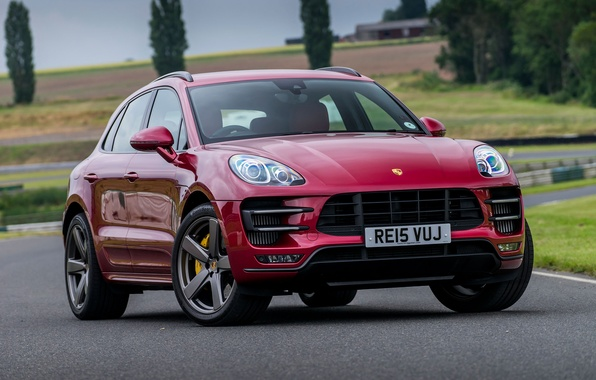 Картинка Porsche, порше, Turbo, UK-spec, 2014, Macan, макан