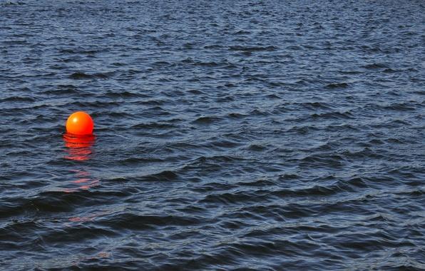 Картинка волны, вода, красный, шар, поплавок, водоем, photo, photographer, марик, маячок, Greg Stevenson