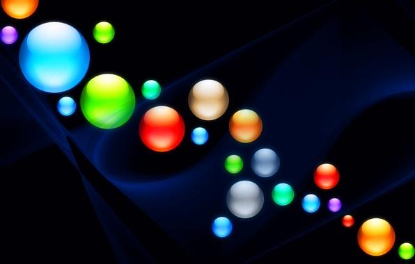 Картинка свет, фон, цвет, шар, круг, шарик