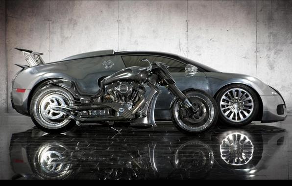 Картинка тюнинг, Bugatti, мотоцикл, байк, карбон, кастом, Bike, Custom, 2011 Mansory, мансори, Zapico, mansory zapico, Veyron …