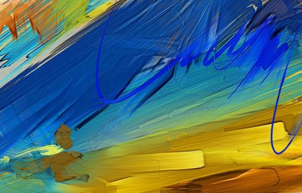 Картинка краски, разных, цветов, Мазки, масляной