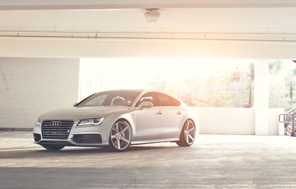 Картинка Audi, ауди, серебристый, парковка, блик, quattro, silvery, Sportback, TFSI, 3.0
