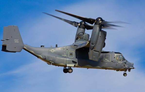 Картинка оружие, армия, вертолёт, самолёт, конвертоплан, Osprey, Bell V-22