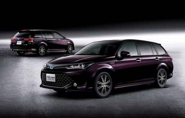 Картинка Toyota, Hybrid, гибрид, тойота, универсал, королла, Corolla, 2015, Fielder