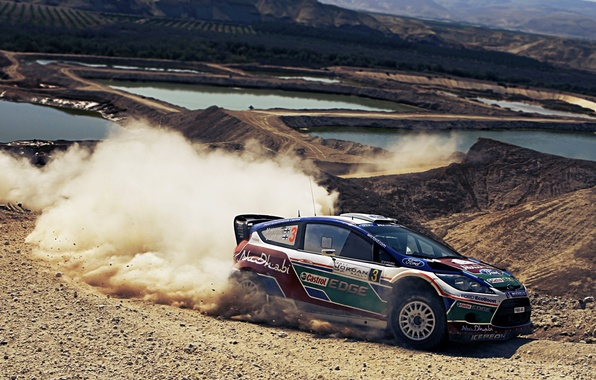 Картинка пыль, занос, ford, форд, rally, ралли