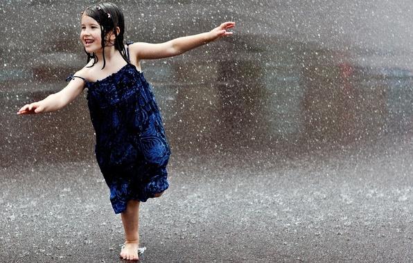 Картинка дорога, дождик, капли, макро, радость, дети, город, поза, улыбка, самолет, дождь, улица, настроения, волосы, весело, …