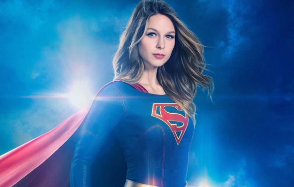 Картинка red, girl, logo, green eyes, dress, woman, blue, beautiful, super, series, singer, blonde, American, actress, ...