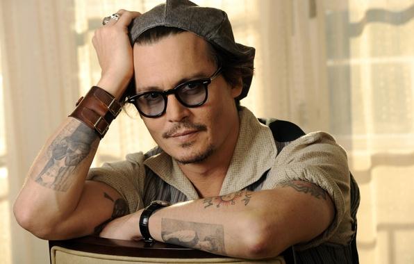 Картинка очки, актер, johnny depp, actor, джонни депп, glasses