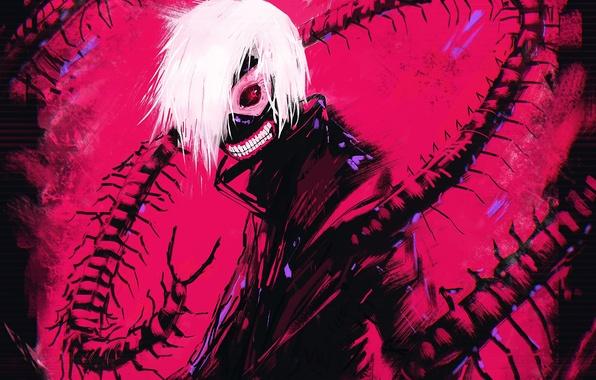 Обои аниме, парень, art, Tokyo Ghoul, Kaneki Ken, Haise Sasaki