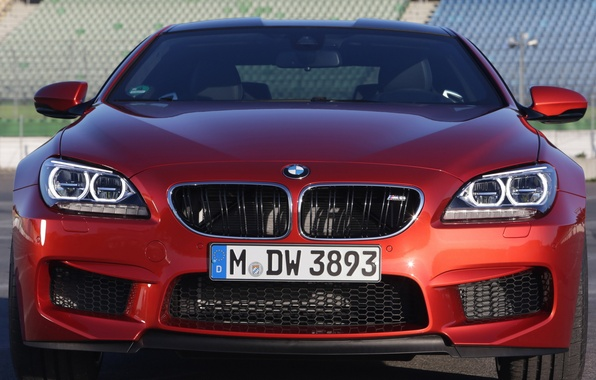 Картинка car, фары, BMW, решетка, red, Coupe, передок, front, Competition Package
