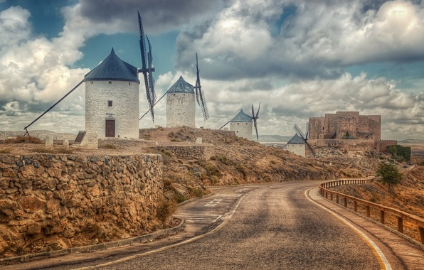 Картинка Spain, Toledo, Consuegra, Castilla La Mancha