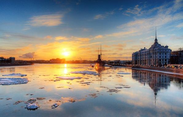 Обои Санкт-Петербург, Аврора, Нева