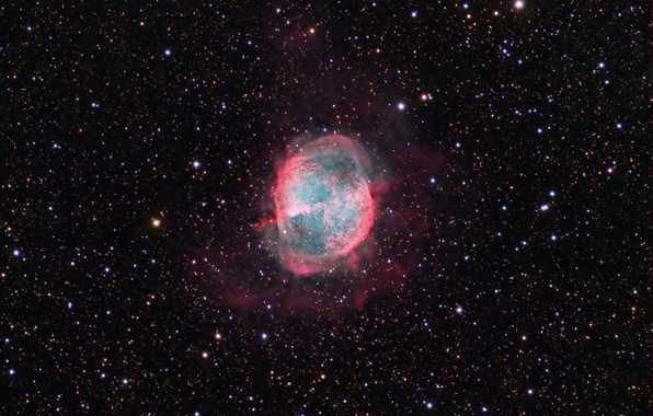 Картинка космос, пространство, звёзды, Туманность, созвездие, Гантель, мироздание, (M27)