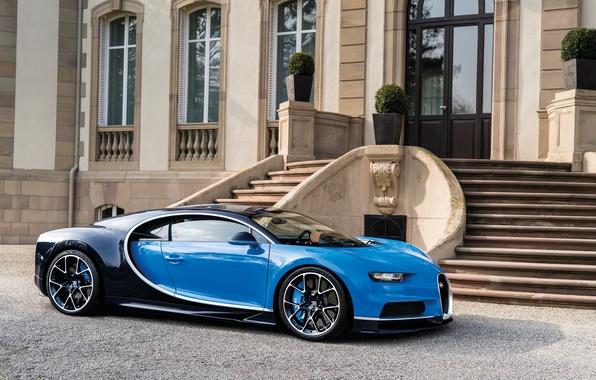 Картинка Bugatti, особняк, 2016, Chiron