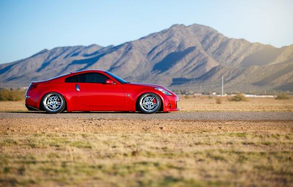 Картинка car, тюнинг, red, ниссан, автообои, nissan 350z