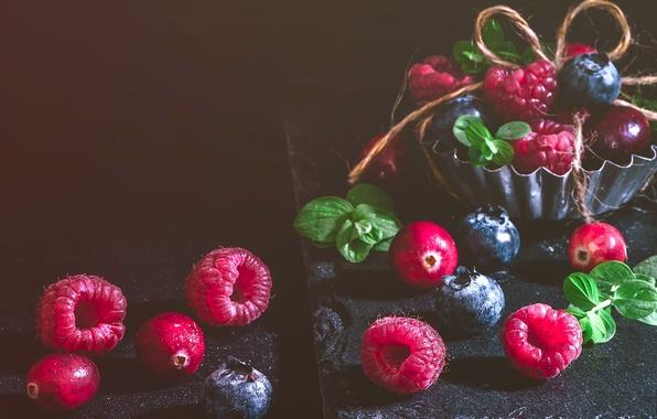 Картинка ягоды, малина, черника, клюква