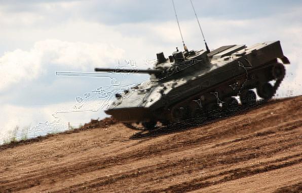 Картинка машина, боевая, БМП-3, пехоты