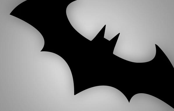 Картинка серый, знак, черный, бэтмен, мышь, эмблема, batmen