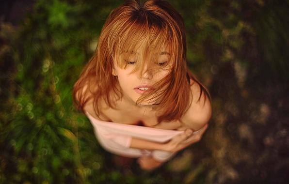 Картинка волосы, портрет, Ирина, боке