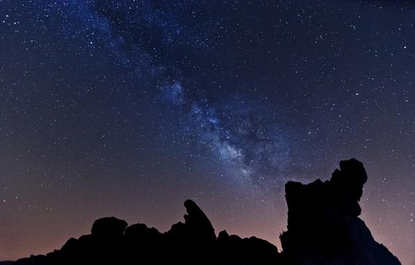 Картинка космос, звезды, ночь, млечный путь