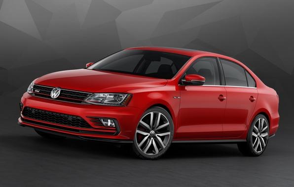 Картинка Volkswagen, Jetta, фольксваген, джетта, 2015, GLI, Typ 1B
