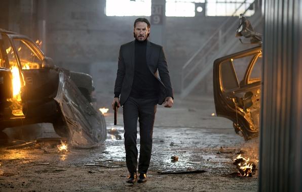 Картинка пистолет, костюм, Киану Ривз, Keanu Reeves, John Wick, Джон Уик