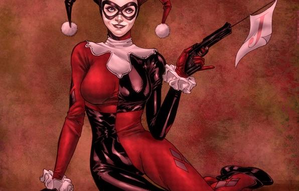 Картинка wallpaper, joker, Harley Quinn, sexy clown