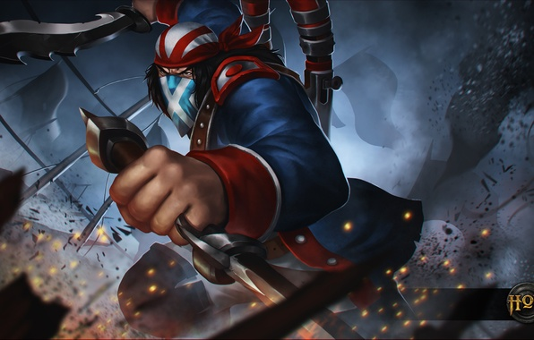 Картинка hon, art, Independence Day, scout, Heroes of Newerth, moba, Continental Rebel