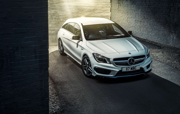 Картинка Mercedes, мерседес, AMG, амг, UK-spec, Shooting Brake, CLA 45, 2015, X117