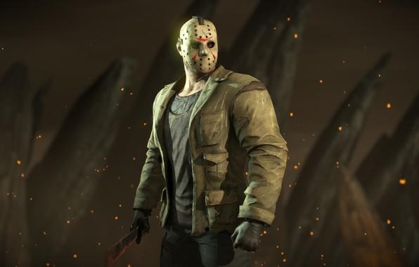 Картинка маска, Пятница 13, боец, Mortal Kombat X, джейсон вурхиз, mk 10