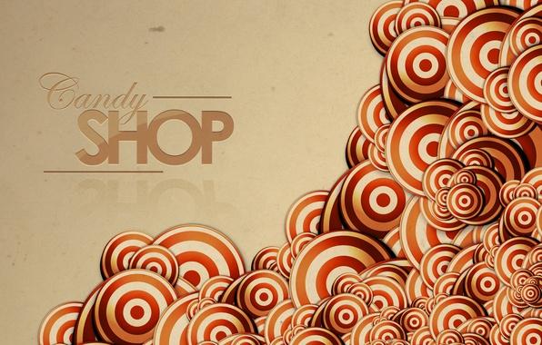Картинка круги, абстракция, полосы, надпись, узоры, линий, слова, stripes, circles, patterns, lines, words, abstraction, lettering, candy …