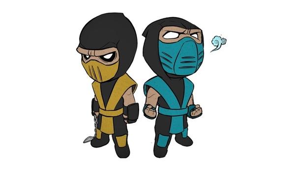Картинка Mortal Kombat, Scorpion, Sub-Zero