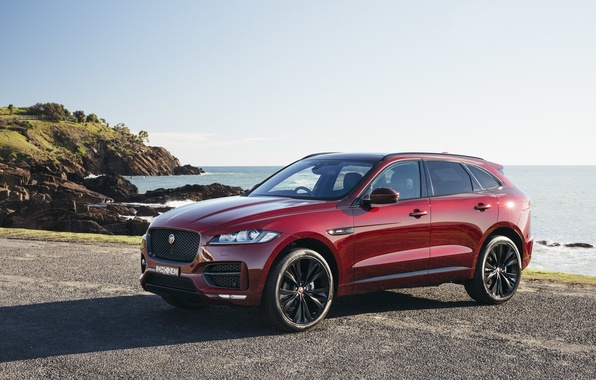 Фото обои F-Pace, внедорожник, ягуар, Jaguar