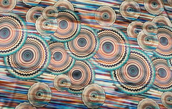 Картинка цвета, линии, круги, движение, узор, блеск, ткань, шёлк, гладкость, текстиль