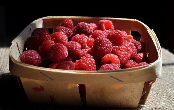 Картинка лето, ягоды, малина, еда, сад, натюрморт, вкусно, дача