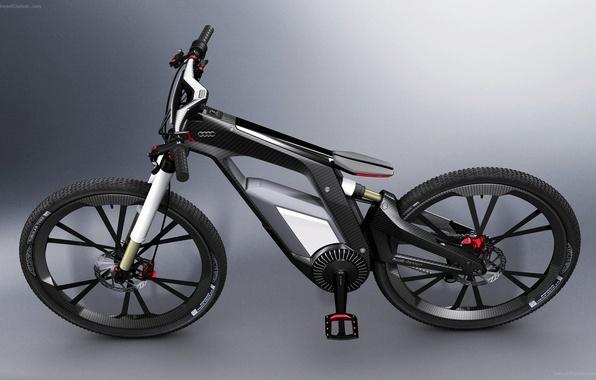 Картинка велосипед, Audi, карбон, 2012, гибрид, Worthersee, e-bike