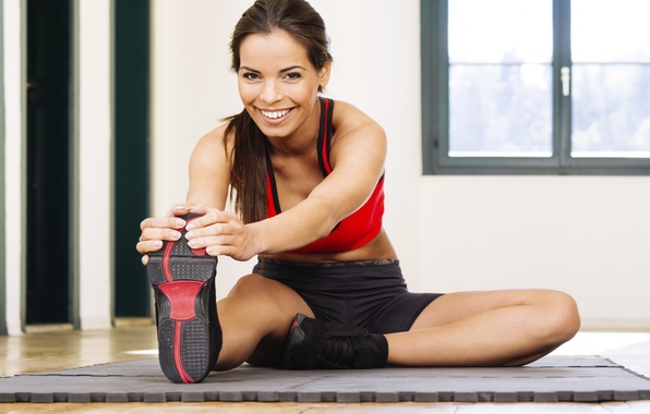 Картинка smile, look, fitness, slippers, elongation