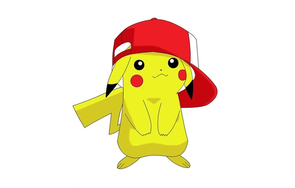 Картинка game, yellow, anime, cap, Pokemon, cute, manga, Pikachu