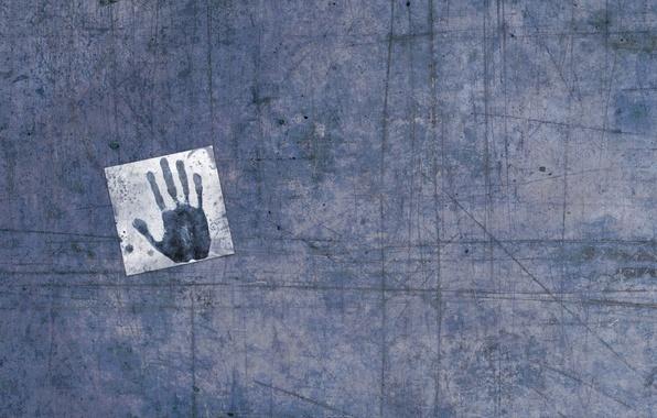 Картинка рука, царапины, отпечаток