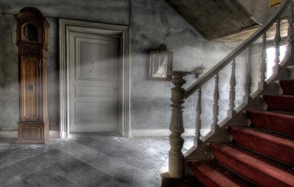Картинка свет, дверь, лестница