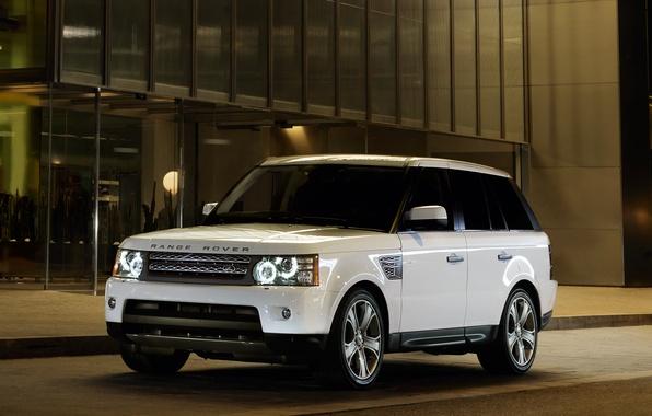 Картинка Вечер, Белый, Спорт, Машина, Машины, Land Rover, Range Rover, Car, Автомобиль, Cars, White, Sport, Автомобили, …