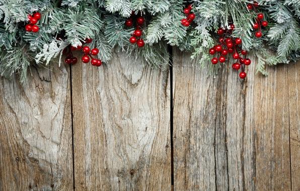 Картинка украшения, ветки, ягоды, елка, Новый Год, Рождество, Christmas, wood, decoration, Merry