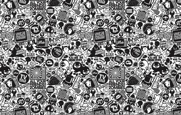 черно белые рисунки фото