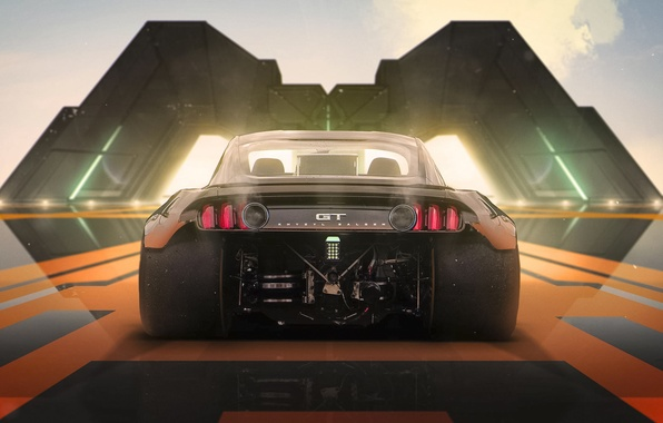 Картинка Concept, Mustang, Ford, Tuning, Future, Halo 4, by Khyzyl Saleem